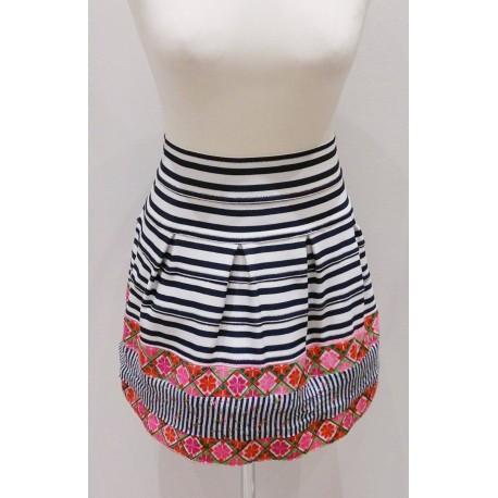 Falda elástica marinera