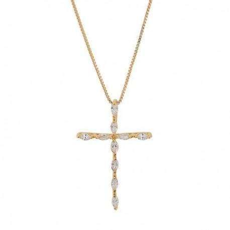 Cruz dorada circonitas